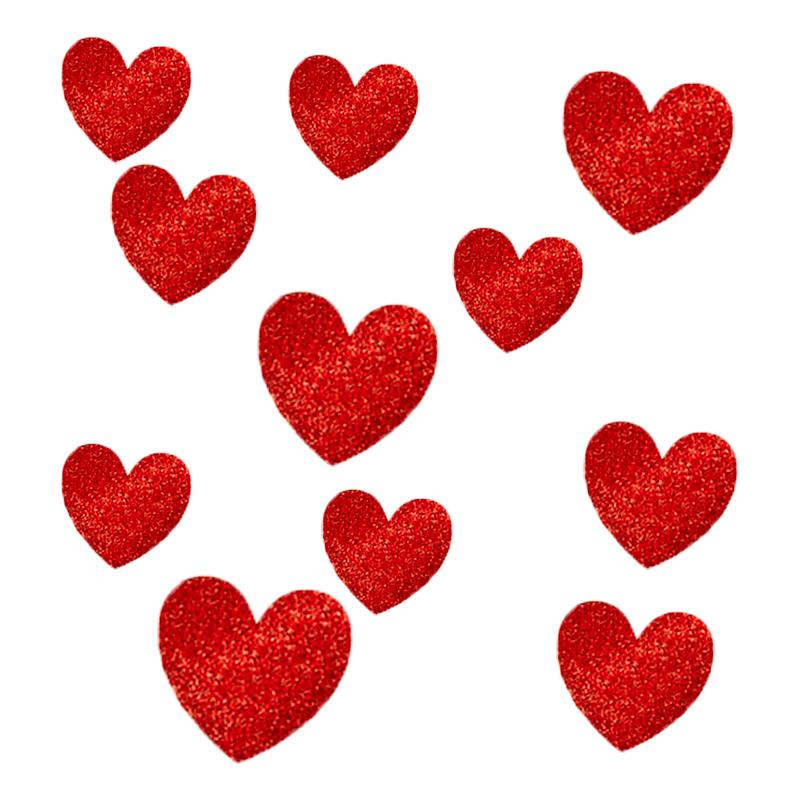 Glitterhjärtan Väggdekorationer - 20-pack