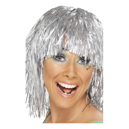Glitterperuk - Silver