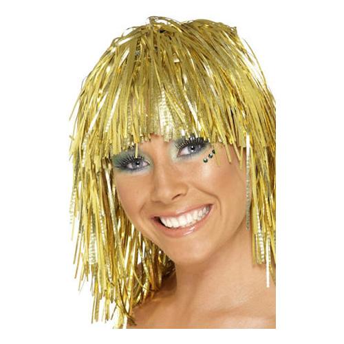 Glitterperuk - Guld