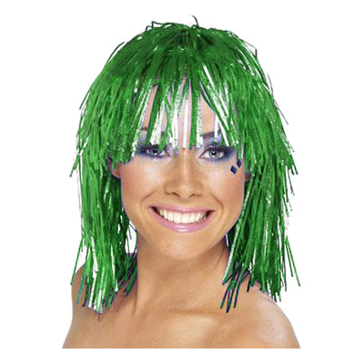 Glitterperuk - Grön