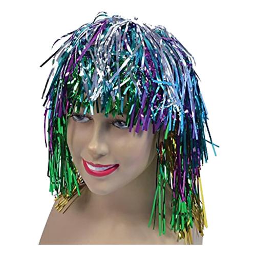 Glitterperuk - Flerfärgad