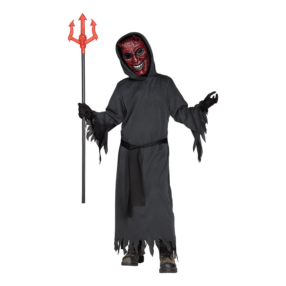 Glödande Djävul Barn Maskeraddräkt - Large