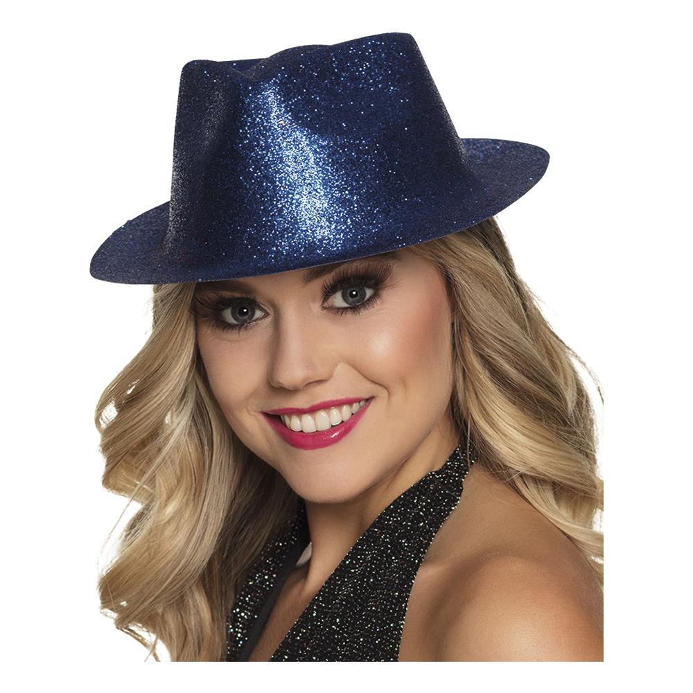 Gnistrande Blå Hatt - One size