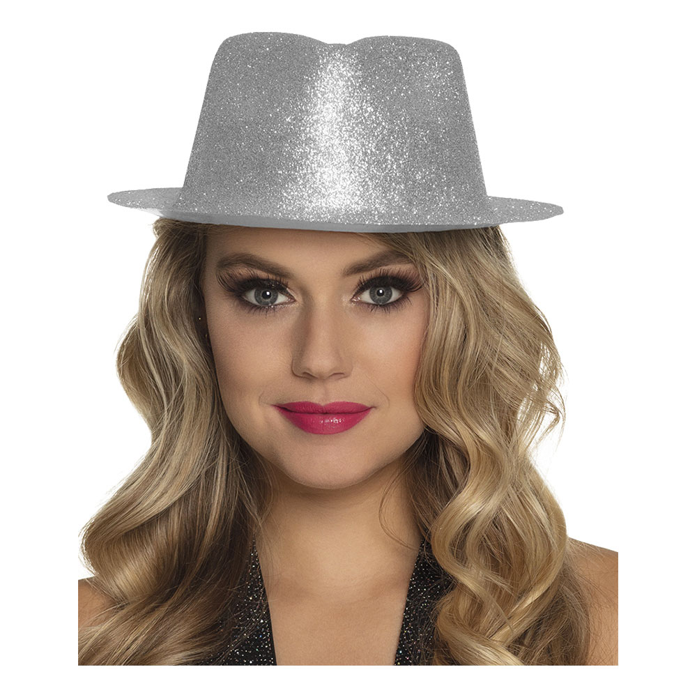 Gnistrande Silver Hatt - One size