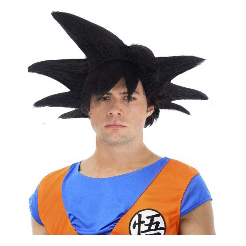 Goku Svart Peruk - One size