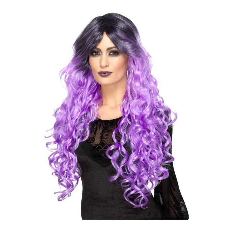 Gothic Glamour Lila Peruk - One size