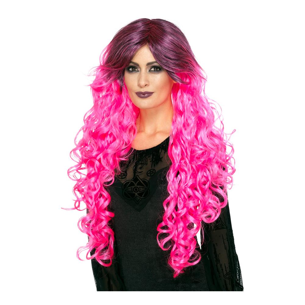 Gothic Glamour Rosa Peruk - One size
