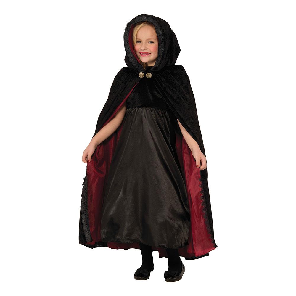 Gotisk Vampyrcape för Barn - One size