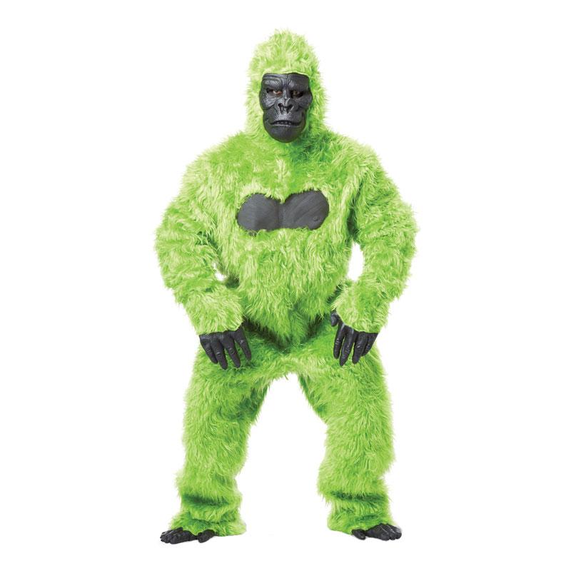 Grön Gorilla Maskeraddräkt - One size