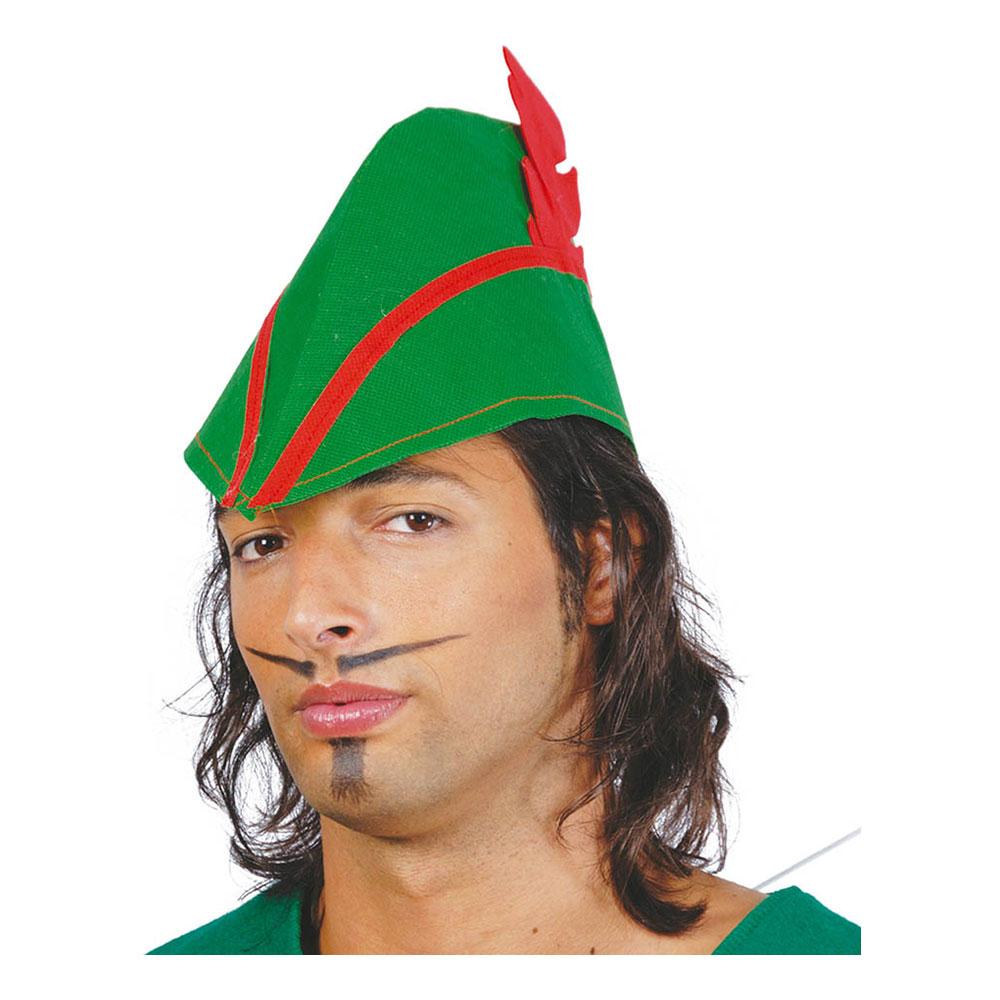 Grön Hatt med Röd Fjäder - One size