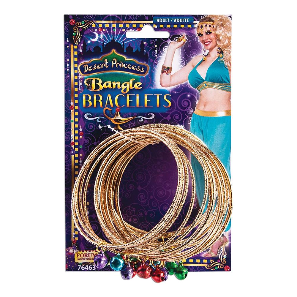 Guldringar med Smycken