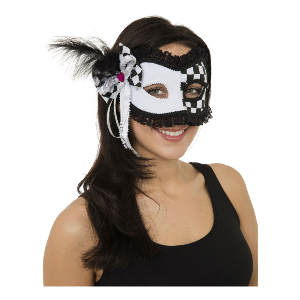 Gycklare Ögonmask med Fjädrar - One size