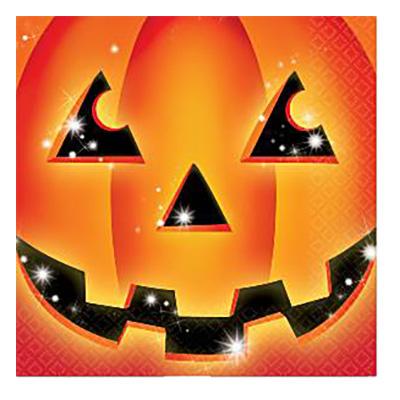 Halloween Pumpa Servetter - 16-pack billigt online ... bced495e41cb2