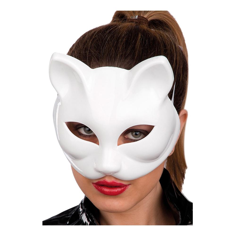 Halvmask Katt Vit - One size