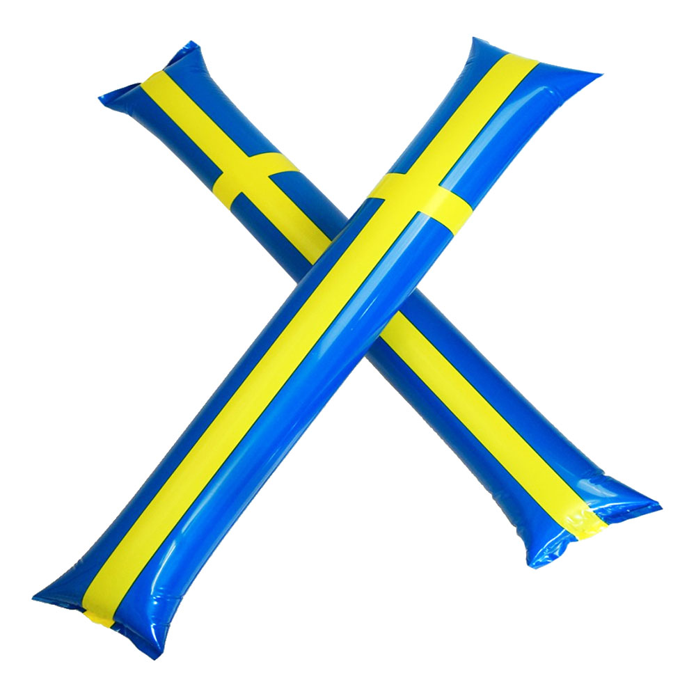 Handklappor Sverigeflagga - 2-pack