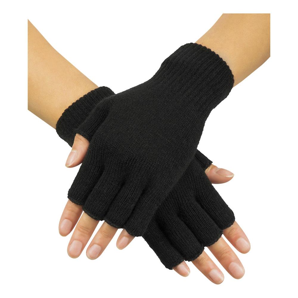 Handskar Fingerlösa Svarta - One size
