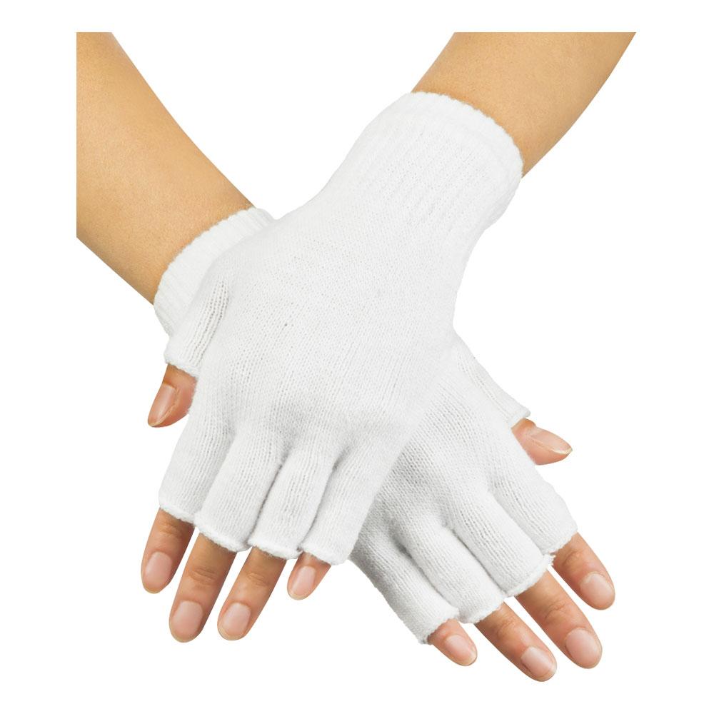 Handskar Fingerlösa Vita - One size