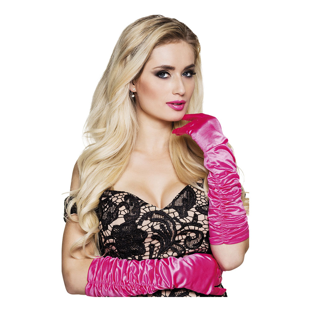 Handskar Hollywood Rosa - One size