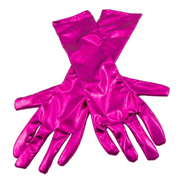 Långa Handskar Metallicmagenta - One size