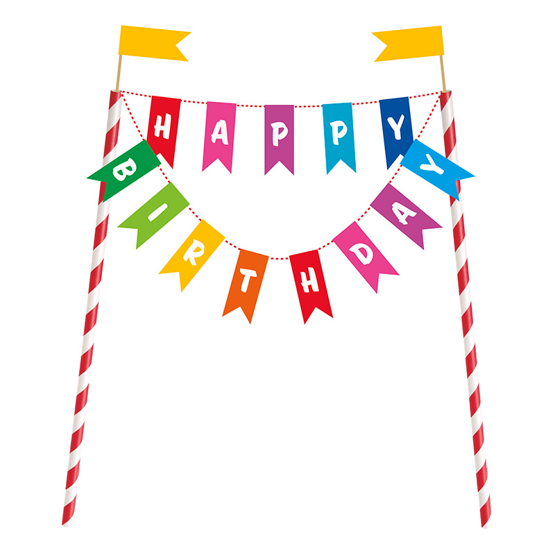 Happy Birthday Tårtdekoration
