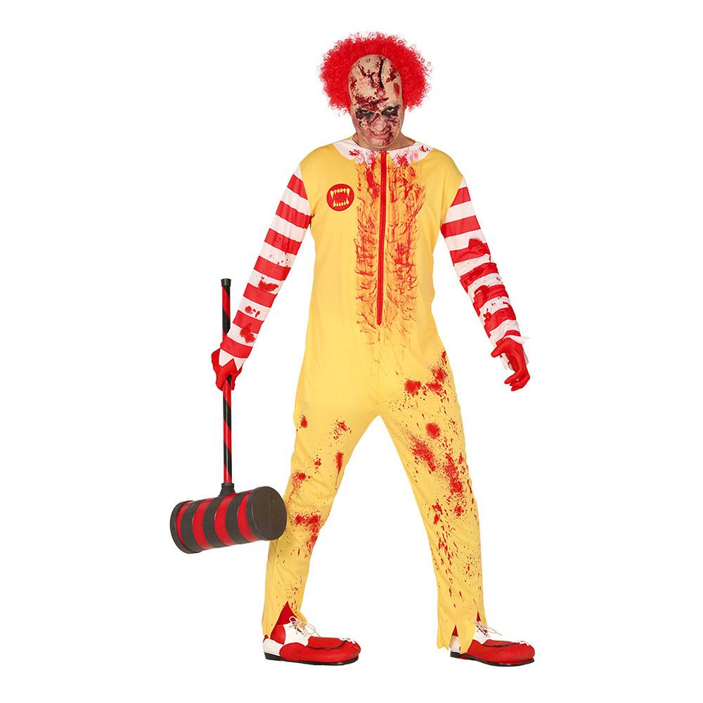 Happy Clown Halloween Maskeraddräkt - Large