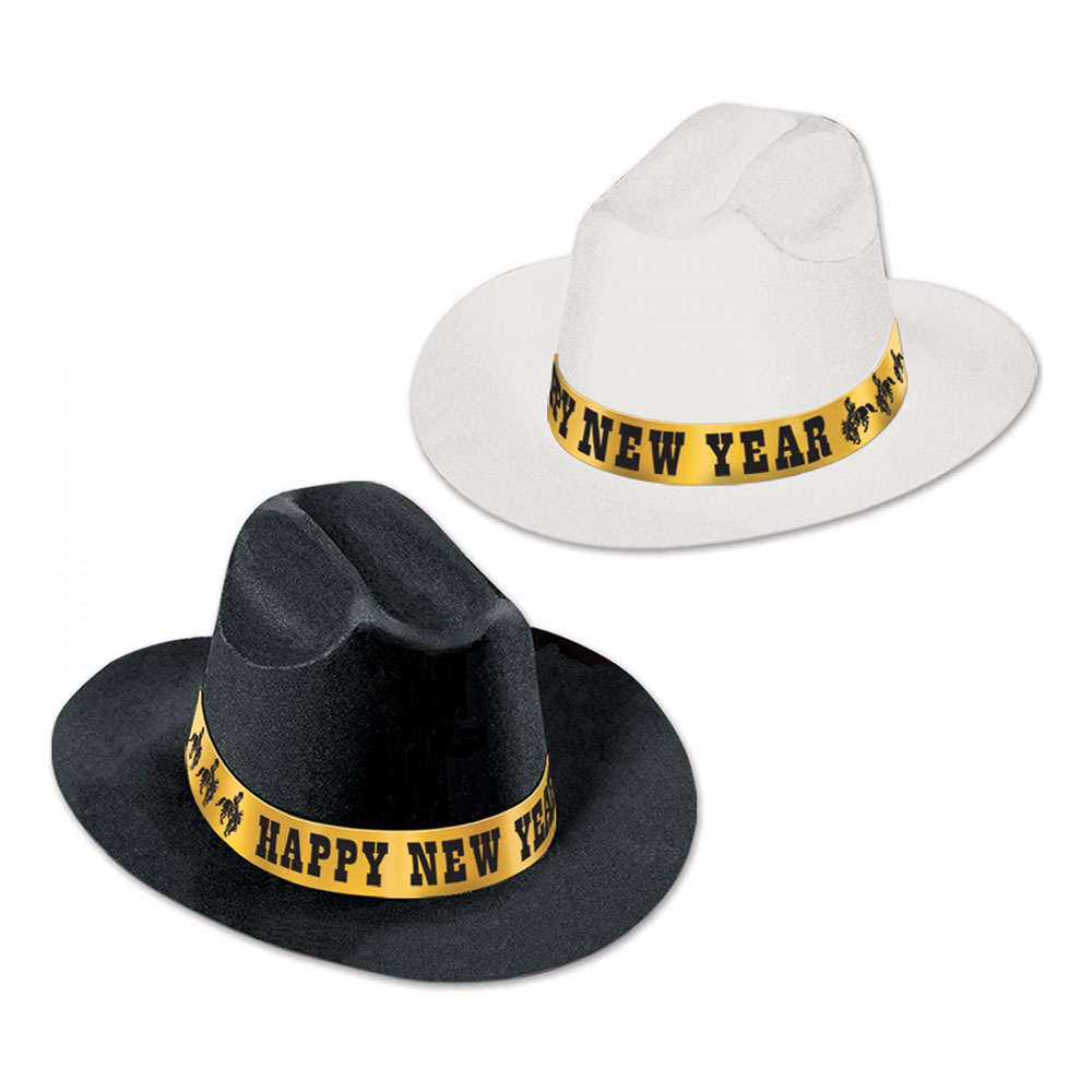 Happy New Year Cowboyhattar - 25-pack