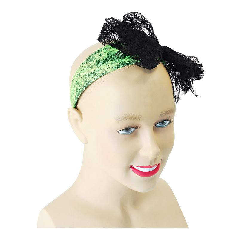 Hårband med Rosett Grön - One size