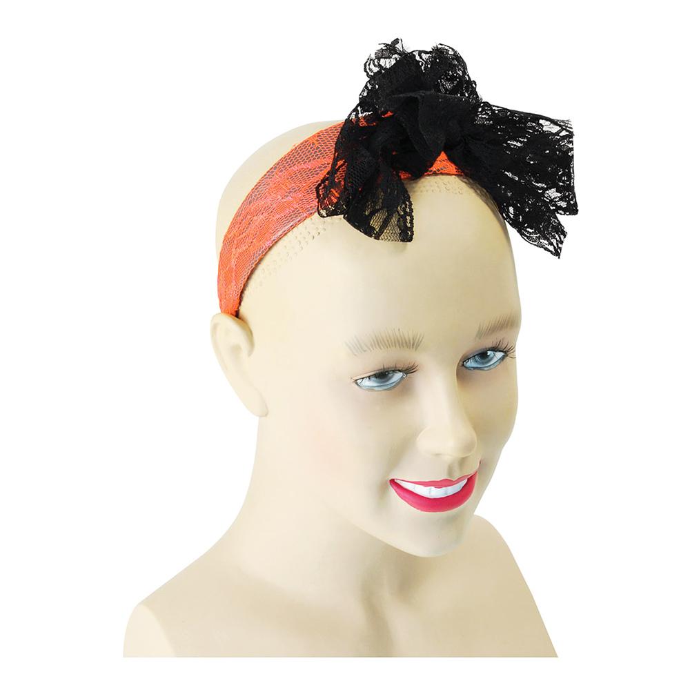 Hårband med Rosett Orange - One size
