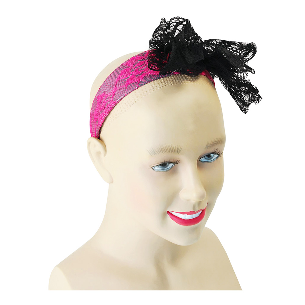 Hårband rosa med Rosett - One size