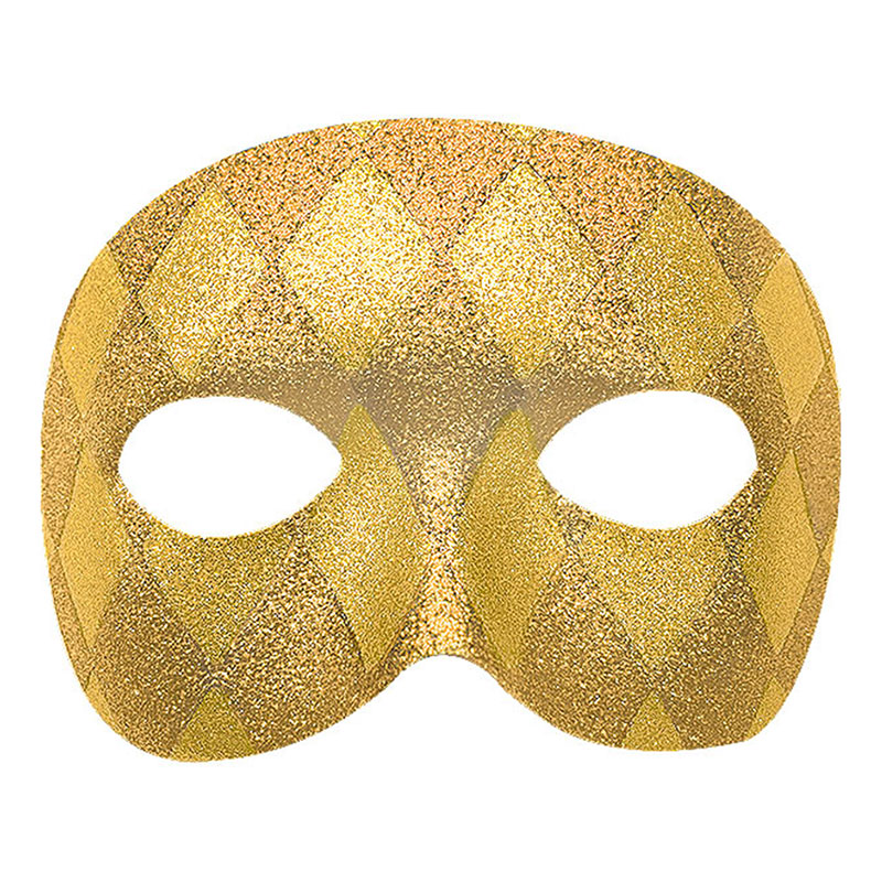 Harlequin Guld Teatermask - One size