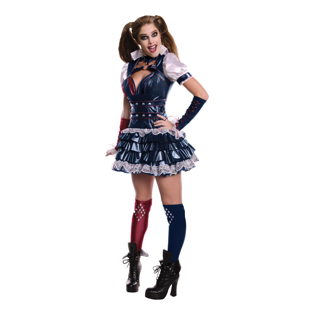 Harley Quinn Arkham Maskeraddräkt - X-Small