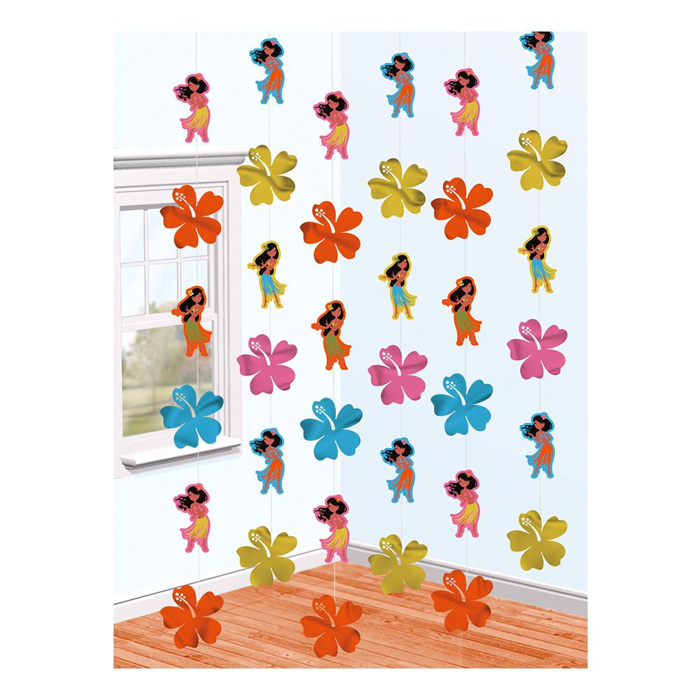 Hawaii Blommor Hängande Dekoration - 6-pack