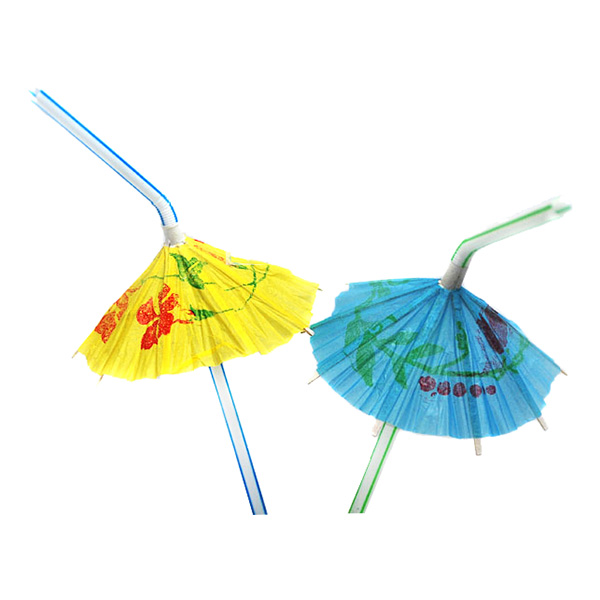 Hawaii Paraplysugrör - 25-Pack
