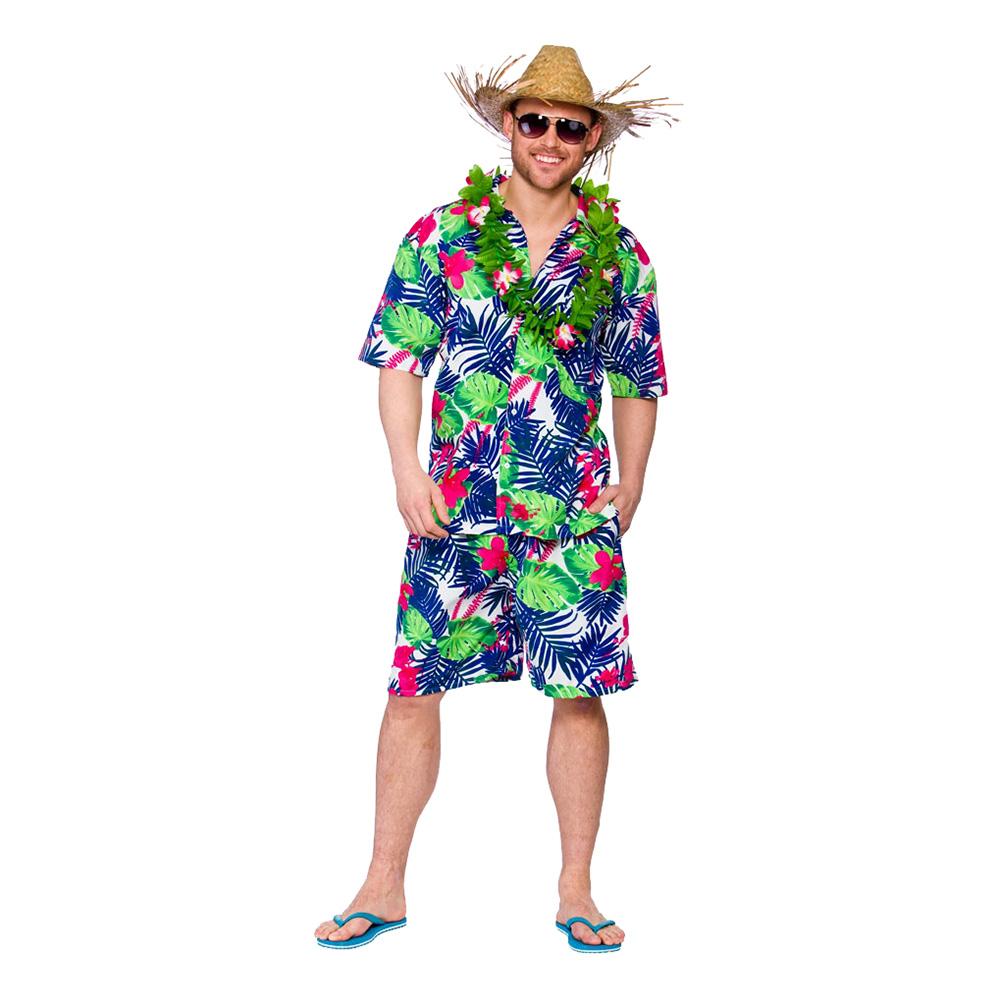 Hawaii Partykille Blå Maskeraddräkt - Large