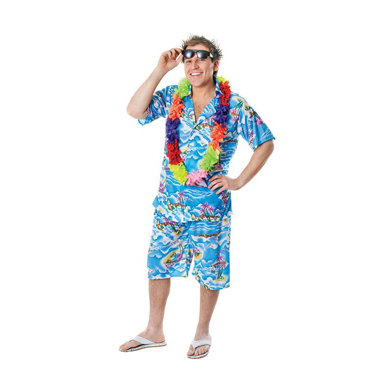 Hawaiian Man Maskeraddräkt - One size