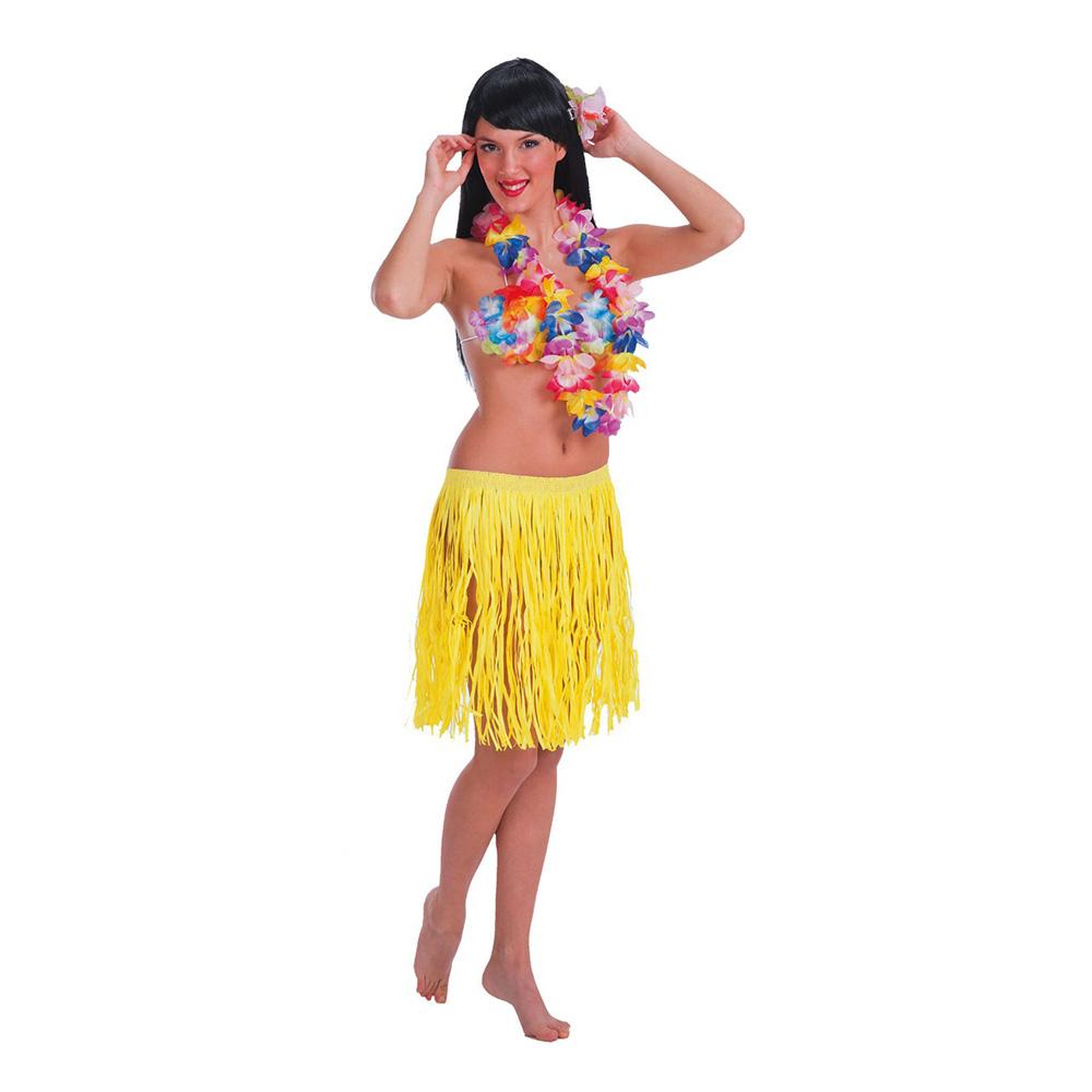 Hawaiikjol i Papp Kort Gul - One size
