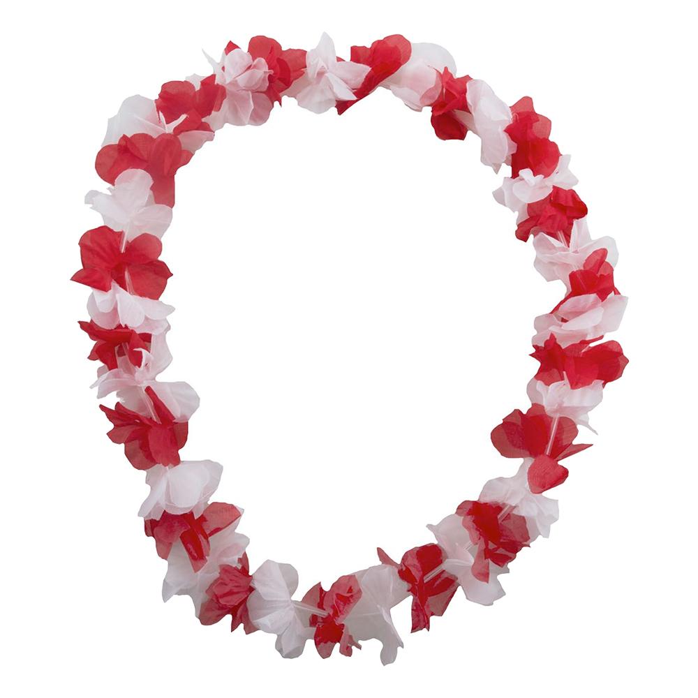 Hawaiikrans Vit/Röd