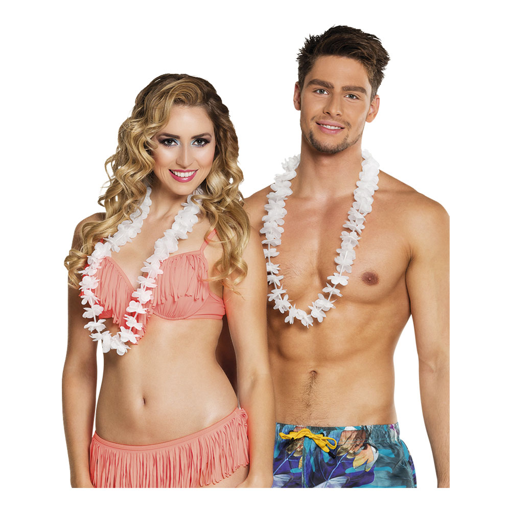 Hawaiikransar Vita - 25-pack