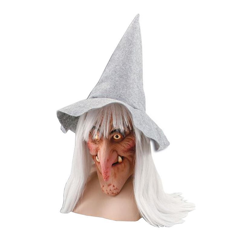 Häxmask med Hatt - One size