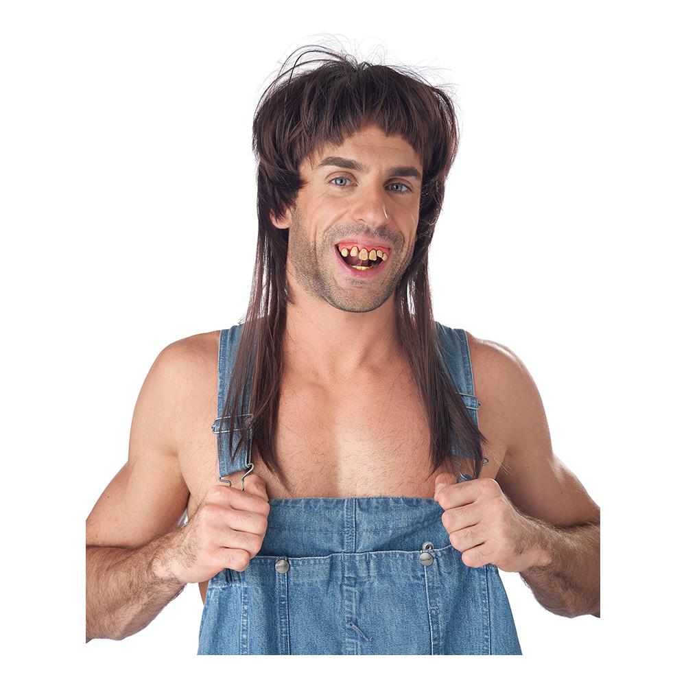 Hillbilly Rob Peruk med löständer - One size