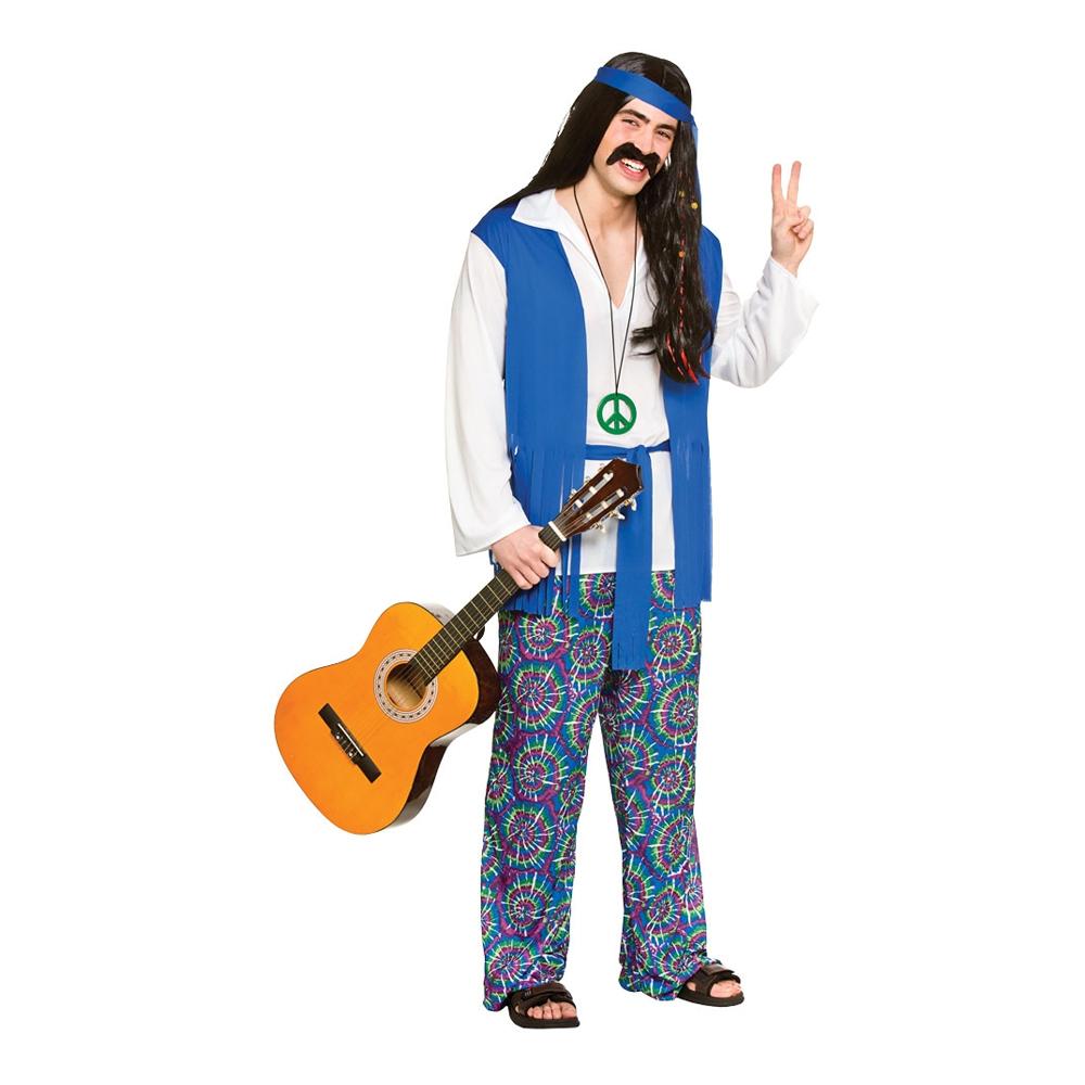 Hippie Blå Maskeraddräkt - Large