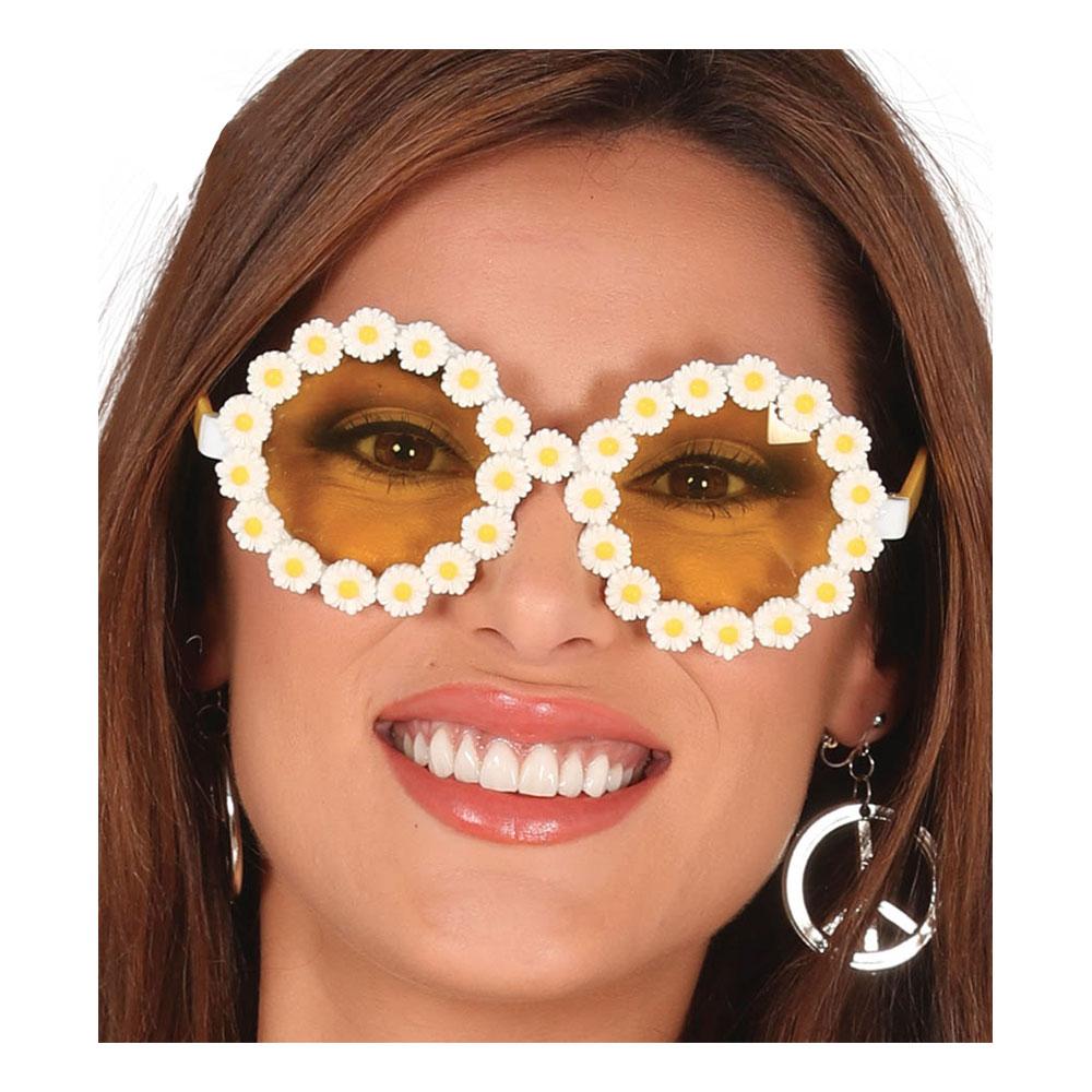 Hippieglasögon med Blommor
