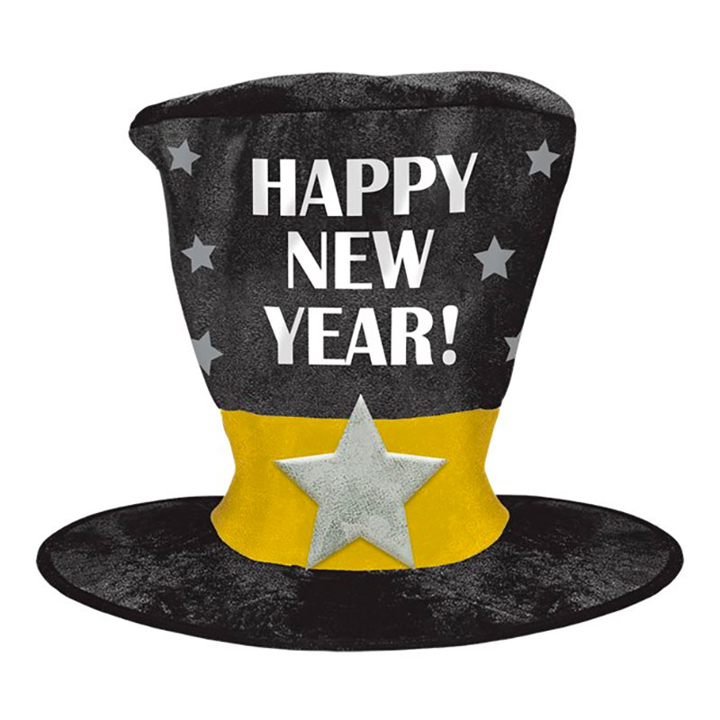 Höghatt Jätte Happy New Year - One size