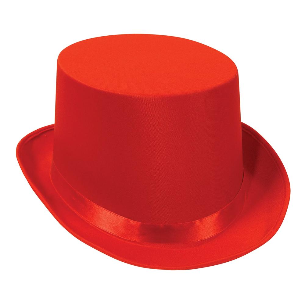 Höghatt Satin - Röd