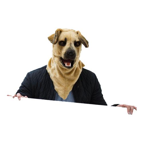 Hundmask med Rörliga Käkar Deluxe - One size