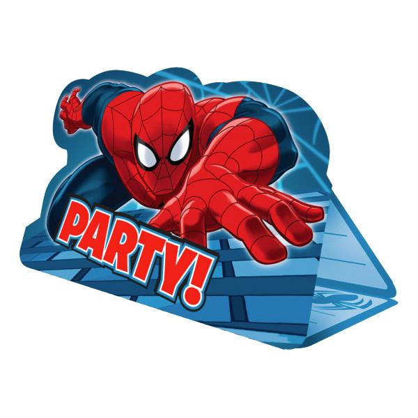 Inbjudningskort Spiderman - 8-pack