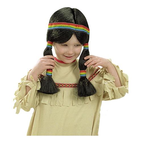 Indianflicka Peruk - One size