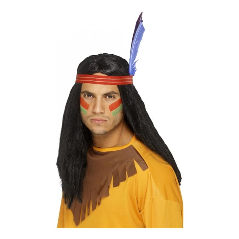 Indianhövding Peruk - One size