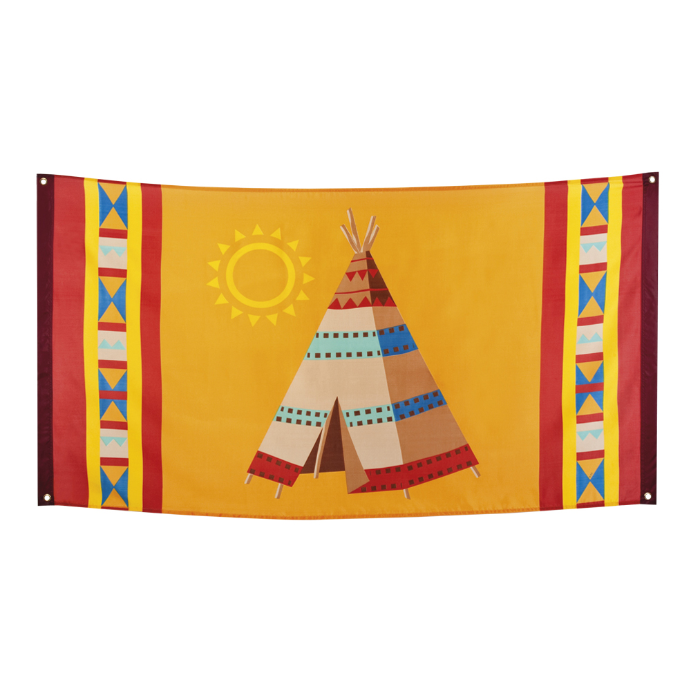 Flagga Indian Tipi