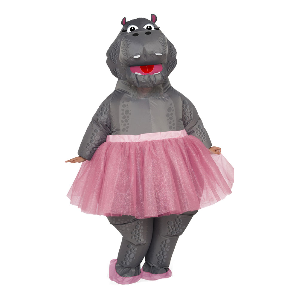Uppblåsbar Ballerina Flodhäst Maskeraddräkt - One size